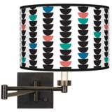 Semi-Dots Giclee Bronze Swing Arm Wall Lamp
