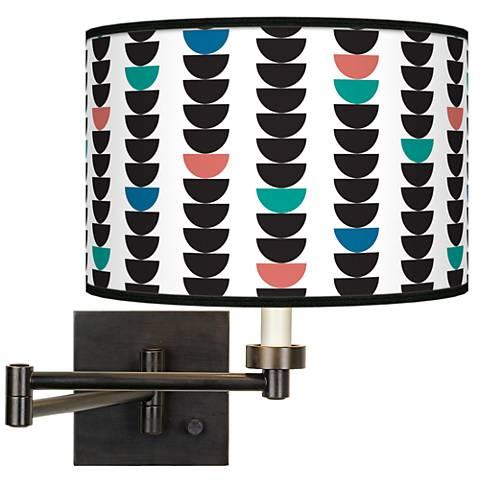 Semi-Dots Giclee Bronze Swing Arm Wall Lamp