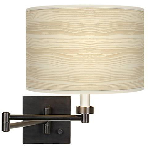 Birch Blonde Giclee Bronze Swing Arm Wall Light