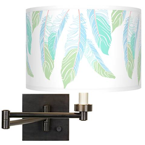 Light as a Feather Giclee Bronze Swing Arm Wall Light