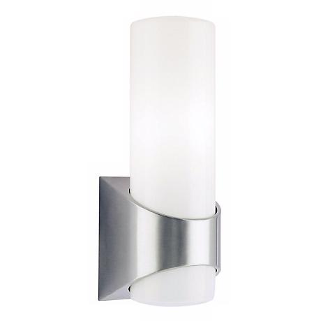 "Kichler Brushed Aluminum 13 1/2"" High Outdoor Wall Light"