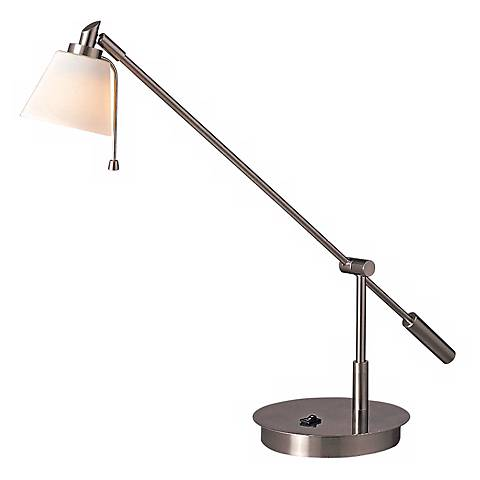 Georges Balance Arm with Glass Shade Desk Lamp