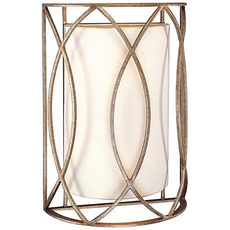 """Sausalito 14"""" High Silver-Gold Wall Sconce"""