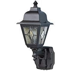 Motion Sensor Outdoor Wall Lights: Classic Cottage Black Motion Sensor Outdoor Wall Light,Lighting