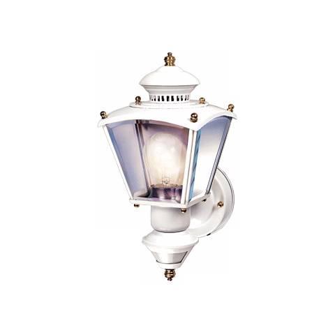 Charleston Coach White Motion Sensor Outdoor Wall Light - #H6931 Lamps Plus