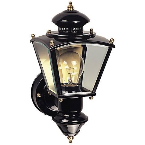 Charleston Coach Black Motion Sensor Outdoor Light - #H6932 Lamps Plus