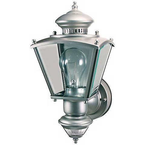 Charleston Coach Silver Motion Sensor Outdoor Light