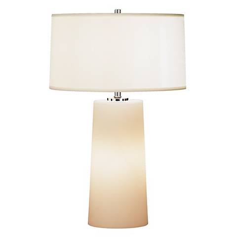 Robert Abbey White Frosted Glass with White Shade Table Lamp