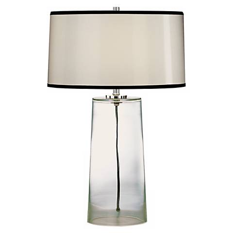 Robert Abbey Clear Glass Base with Black Trim Shade Lamp