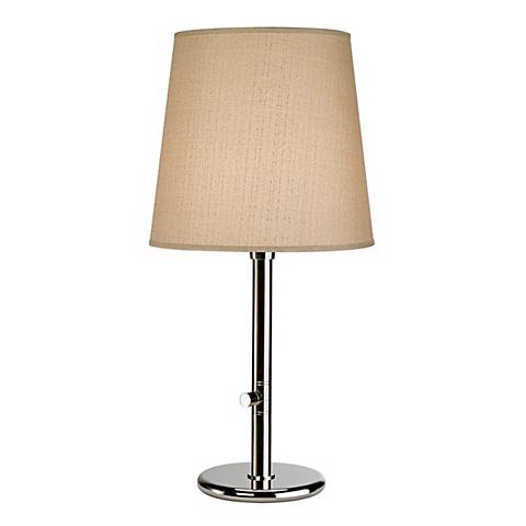 Robert Abbey Polished Nickel with Taupe Shade Table Lamp