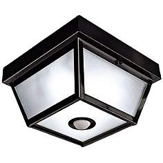 Benson Black 9 1 2 Wide Motion Sensor Outdoor Ceiling Light