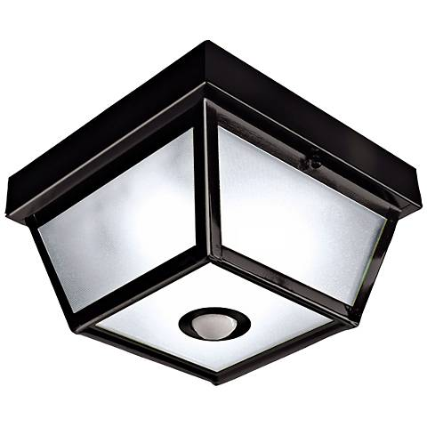 Benson Black 9 1 2 Wide Motion Sensor Outdoor Ceiling Light H7013