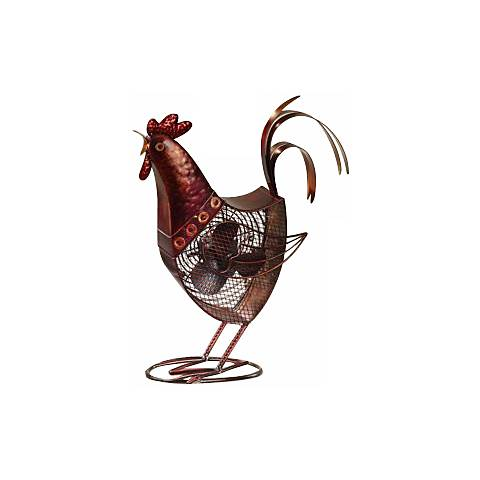 Deco Decorative Rooster Fan