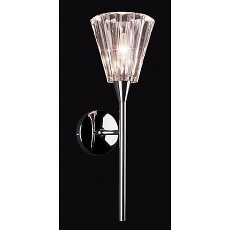 """Visione Chrome 18"""" High Wall Sconce"""