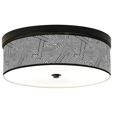 Labyrinth Giclee Energy Efficient Bronze Ceiling Light