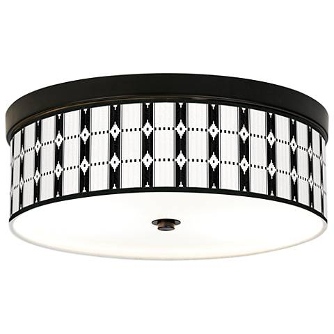Tribal Weave Giclee Energy Efficient Bronze Ceiling Light