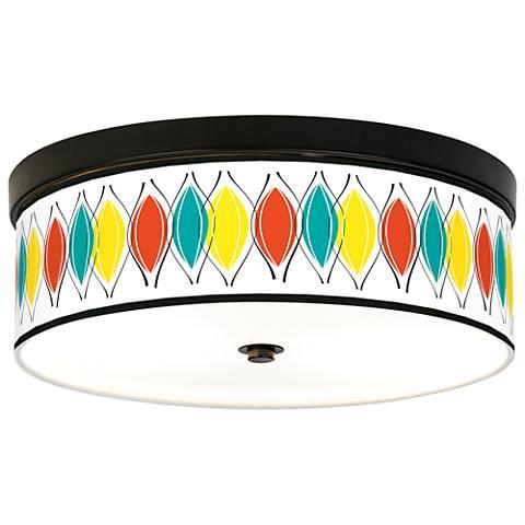 Harmonium Giclee Energy Efficient Bronze Ceiling Light