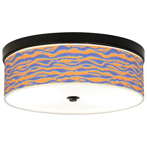 Sunset Stripes Giclee Energy Efficient Bronze Ceiling Light