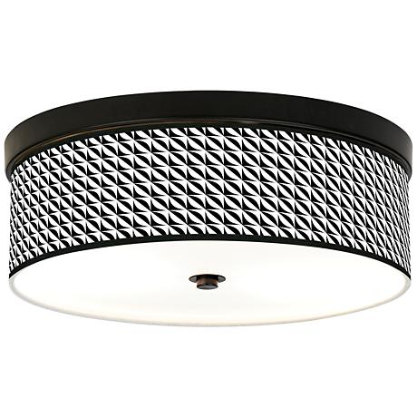 Waves Giclee Energy Efficient Bronze Ceiling Light