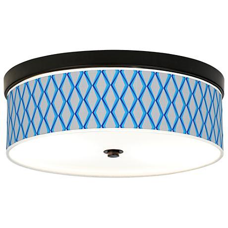 Bleu Matrix Giclee Energy Efficient Bronze Ceiling Light