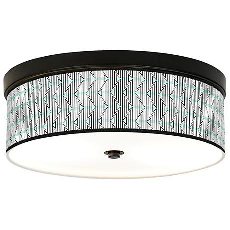 Indigenous Giclee Energy Efficient Bronze Ceiling Light