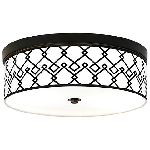 Diamond Chain Giclee Energy Efficient Bronze Ceiling Light