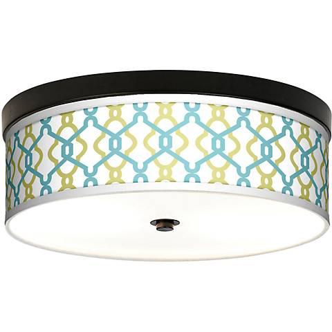 Hyper Links Giclee Energy Efficient Bronze Ceiling Light