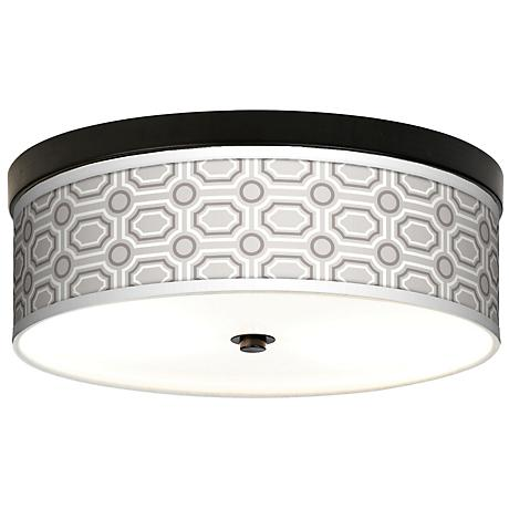 Luxe Tile Giclee Energy Efficient Bronze Ceiling Light