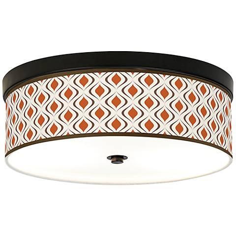 Retro Lattice Energy Efficient Bronze Ceiling Light