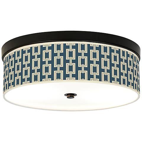 Chain Links Vanilla Energy Efficient Bronze Ceiling Light