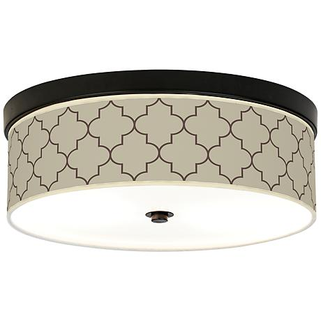 Tangier Taupe Energy Efficient Bronze Ceiling Light
