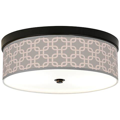 Smoke Lattice Energy Efficient Bronze Ceiling Light