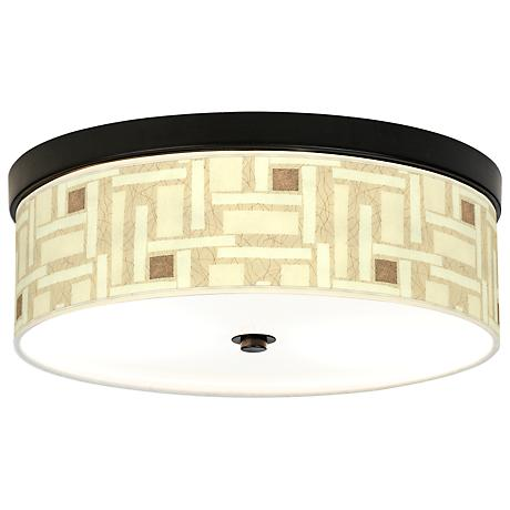 Organic Strands Energy Efficient Bronze Ceiling Light