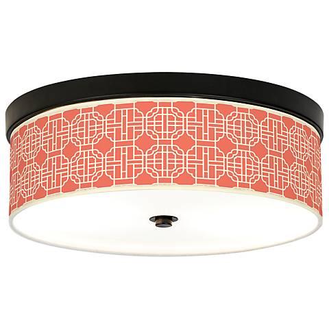 Mandarin Giclee Energy Efficient Bronze Ceiling Light