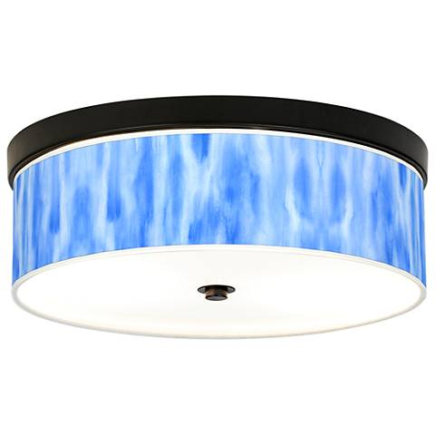 Blue Tide Giclee Energy Efficient Bronze Ceiling Light