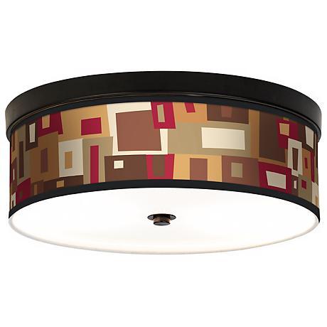 Earth Palette Giclee Energy Efficient Bronze Ceiling Light