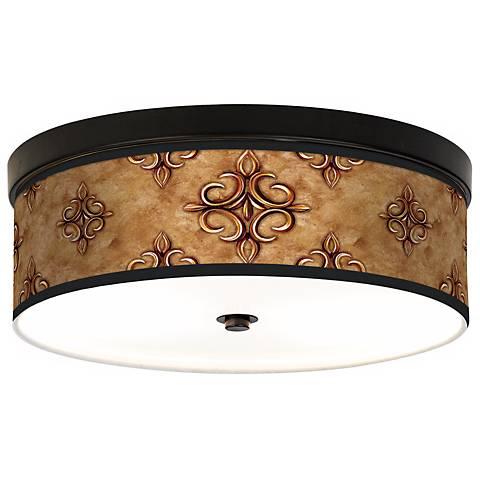 Estate Nutmeg Giclee Energy Efficient Bronze Ceiling Light