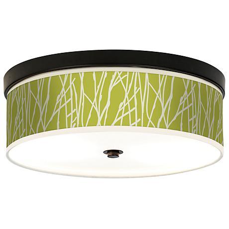 Twiggy Spring Giclee Bronze CFL Ceiling Light