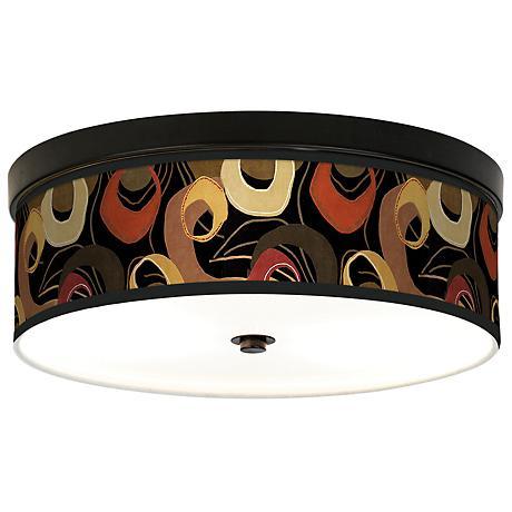 Rhythm Motif Giclee Bronze CFL Ceiling Light
