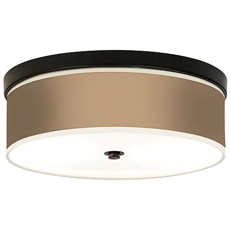 Mesa Tan Giclee Bronze CFL Ceiling Light