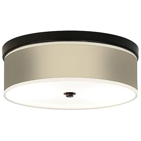 Softer Tan Giclee Bronze CFL Ceiling Light