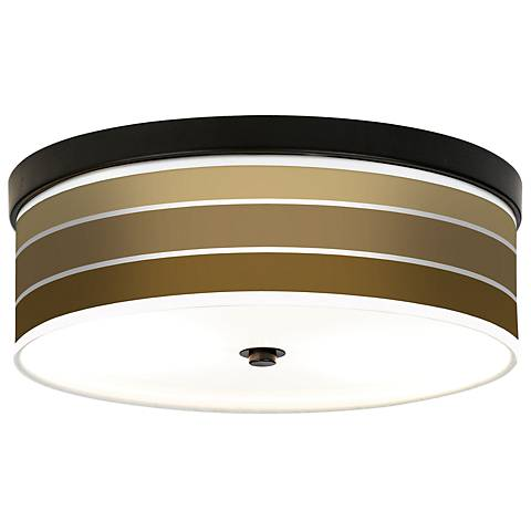 Tones of Chestnut Giclee Bronze CFL Ceiling Light