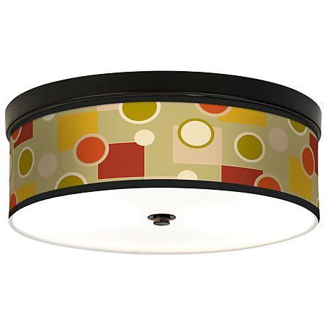 Retro Citrus Medley Giclee Bronze CFL Ceiling Light