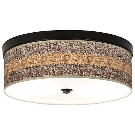 Woven Fundamentals Giclee Energy Efficient Bronze Ceiling Light