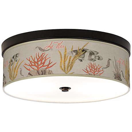 La Mer Coral Giclee Energy Efficient Bronze Ceiling Light