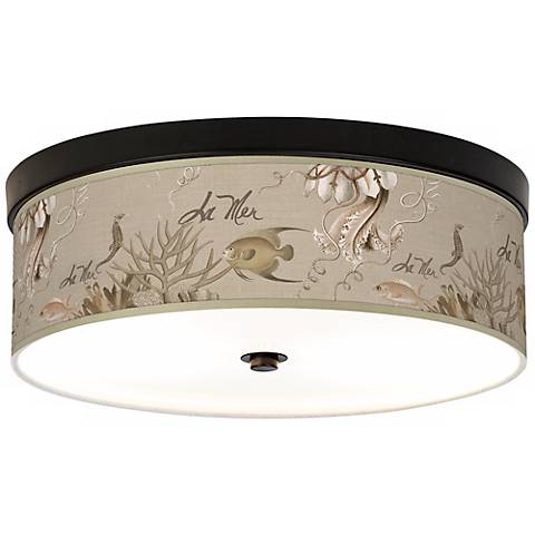 La Mer Jellyfish Giclee Energy Efficient Bronze Ceiling Light