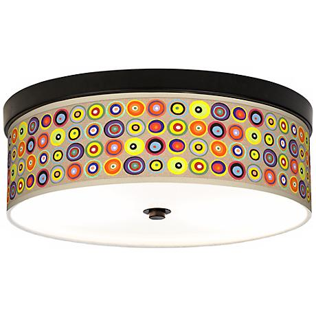 Marbles in the Park Giclee Energy Efficient Bronze Ceiling Light
