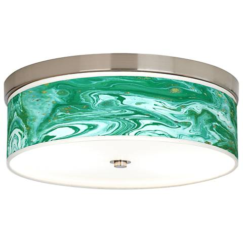 Malachite Giclee Energy Efficient Ceiling Light