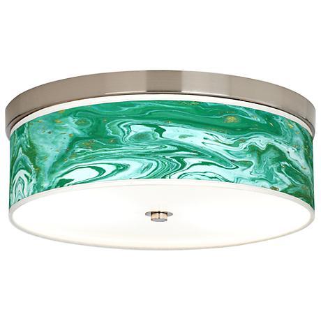Malachite Giclee Energy Efficient Ceiling Light