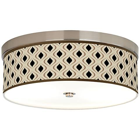 Gray Retro Lattice Giclee Energy Efficient Ceiling Light